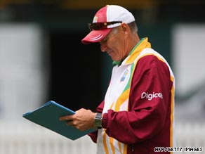 Coach sacked: John Dyson had been in charge of the West Indies side since 2007.