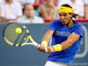 Nadal was on court for just 36 minutes on his singles return.