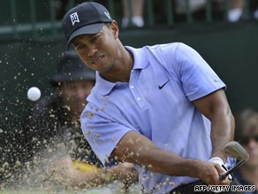 Woods already looks the man to beat at Hazeltine after taking  the first round lead with a five-under 67.