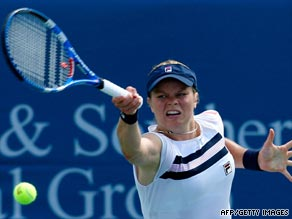On the comeback trail: Clijsters held on for an impressive victory over Svetlana Kuznetsova on Thursday.