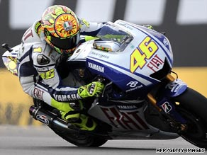 Valentino Rossi is seeking to extend his championship lead over Yamaha teammate Jorge Lorenzo.