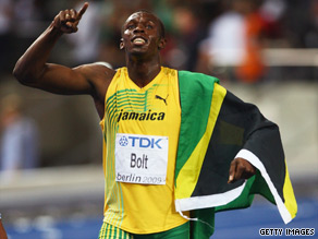 The Jamaican superstar took away American Tyson Gay's world title in Berlin.