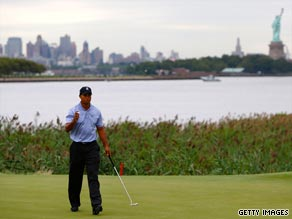 Tiger Woods carded a one-under 70 after the first round of the PGA Tour's Barclays Classic at Liberty National.