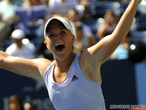 Melanie Oudin celebrates dumping fourth seed Elena Dementieva out of the U.S. Open.