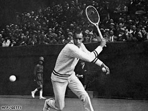 Tilden dominated tennis in the 1920s with his own trademark style.