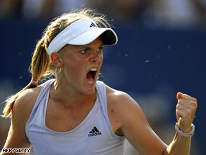 Oudin produced inspired play in the deciding set to oust Sharapova.