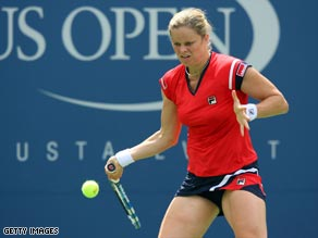 Kim Clijsters now faces a quarter-final date on Tuesday against China's Li Na.