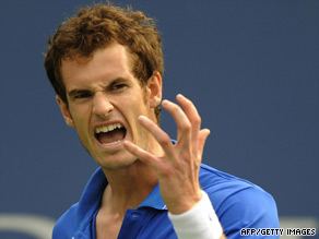 Andy Murray sees another point go begging as he crashes out in the last 16 of the U.S. Open.