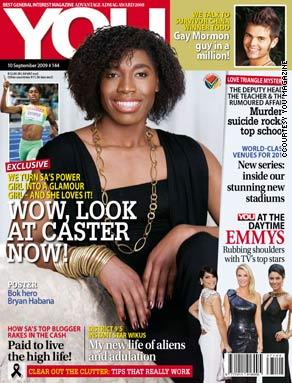 The front cover of You magazine has Semenya as the main feature.