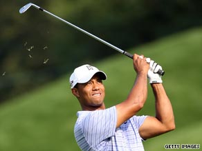 Woods carded a course-record 62 in the third round of the BMW Championship at Cog Hill, Illinois.