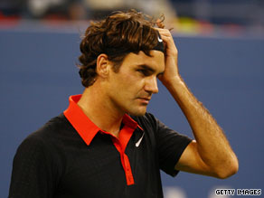 Roger Federer suffered his first defeat at Flushing Meadows since his fourth-round exit in 2003.