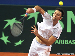 Ivo Karlovic found himself on the losing side despite smashing the world record for aces served.