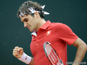 Roger Federer's victory on Sunday ensured that Switzerland will play in the World Group of the Davis Cup.