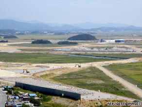 Work is in progress at the 5.6km site of the future South Korean Grand Prix in Yeongam county.