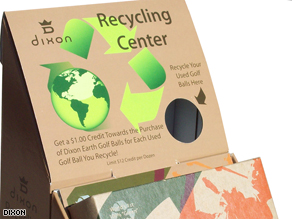 Dixon Golf are asking for their customers to recycle their balls.