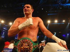 Klitschko will be putting his WBC belt on the line when he faces Cristobal Arreola on Saturday.