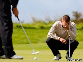 Stress can affect golfers of all abilities.