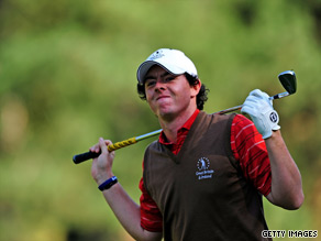 McIlory enjoyed a fine day as GB and Ireland stepped up their defense of the Vivendi Trophy