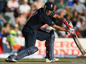Owais Shah scored a superb 98 in England's imposing total of 323.