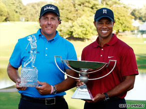Consistency pleases Woods despite Mickelson victory