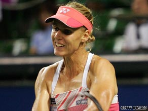 Third seed Dementieva served 11 double faults on her way to defeat at the Pan Pacific Open.