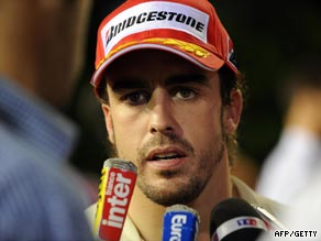 Alonso joins Ferrari on a lucrative three-year deal from next season.