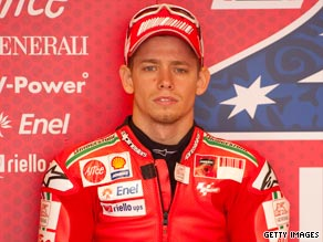 Stoner has been sidelined for the last three MotoGP races because of a mystery illness.