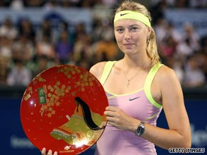 Sharapova was winning her first title of 2009 after returning from injury.