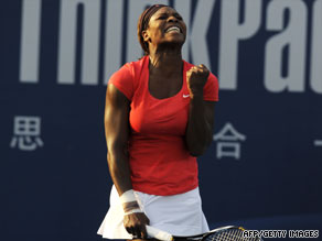 Serena Williams first climbed to the top of the women's world rankings in July 2002