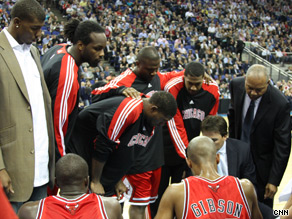 The Chicago Bulls get tactics from their coach.