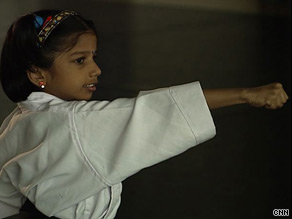 To gain her black belt, Varsha had to learn up to 15 karate moves.