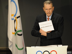 The IOC announce Rio's successful bid