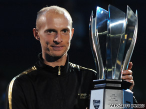 Davydenko collected his third Masters title after a superb Shanghai victory over Rafael Nadal.