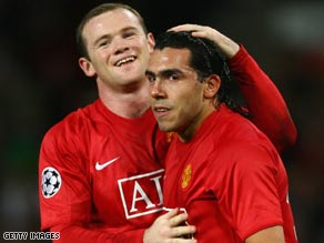 Tevez, right, joined Manchester United after almost singlehandedly saving West Ham from relegation.