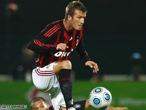 Beckham will start on the substitutes' bench when Milan get their Serie A season back under way against Roma.