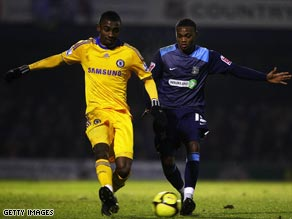 Salomon Kalou (left) scored one of the goal as Chelsea eventually reached the FA Cup fourth round.