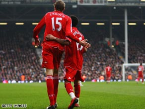 Crouch and Pennant hit it off for Liverpool at Fulham in a performance that impressed Pompey chief Adams.