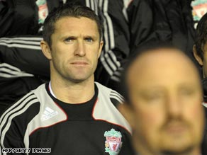 Liverpool striker Robbie Keane returns to London's Tottenham Hotspur.