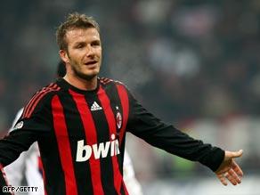 Beckham's goalscorng form has already made him a favorite at the Rossoneri.