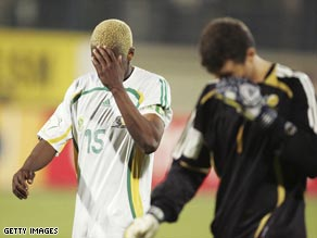South Africa crash out of the 2006 African Cup of Nations without scoring a single goal.