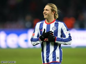 Voronin's double was enough to secure three points for Hertha.