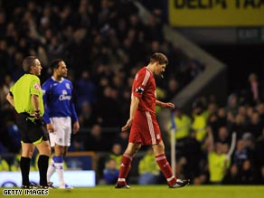 Gerrard limped off in the FA Cup defeat to Merseyside rivals Everton on February 4.