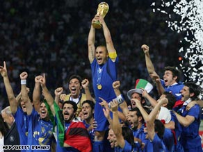 Italy will be looking to defend their World Cup trophy in 2010 in South Africa.