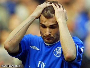 Romania's Adrian Mutu was sacked by Chelsea and banned from the game for testing positive for cocaine.