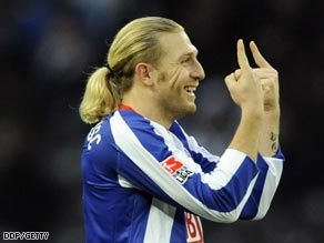 The prolific Voronin is underpinning Hertha's title bid with crucial goals.