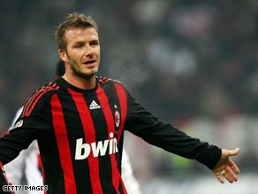 Beckham has impressed during his loan spell at Italian giants Milan.