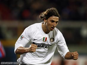 Zlatan Ibrahimovic scored the opening goal as Inter cruised to a 2-0 victory at Genoa.
