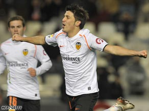 Villa's goals have kept Valencia in the upper reaches of the Spanish Primera.