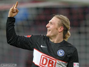 Voronin is the hottest striker in the Bundesliga after another goal saw Hertha Berlin remain top of the table.