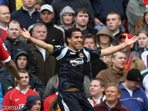 Tevez scored a crucial winning goal at Manchester United on last day of the 2006-07 season.